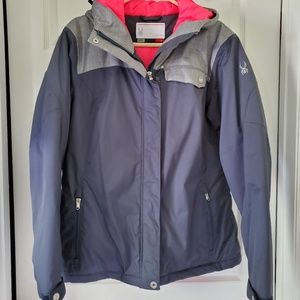 Spyder Women's Ski / Snow Jacket Gray SIZE 14/LG